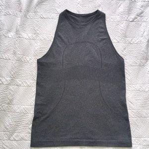 Lululemon: grey Run Swiftly high neck tank size 6
